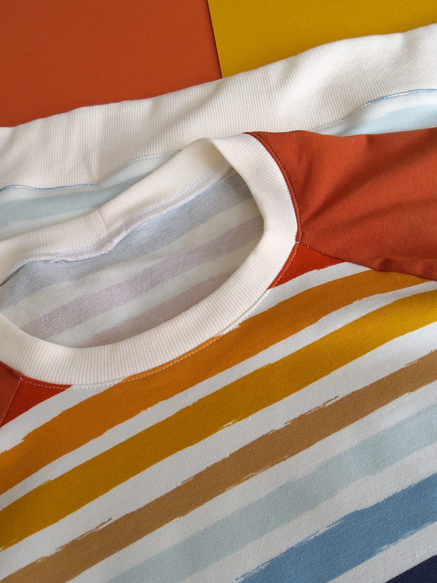 T-shirt homme, motif rayure, en coton bio