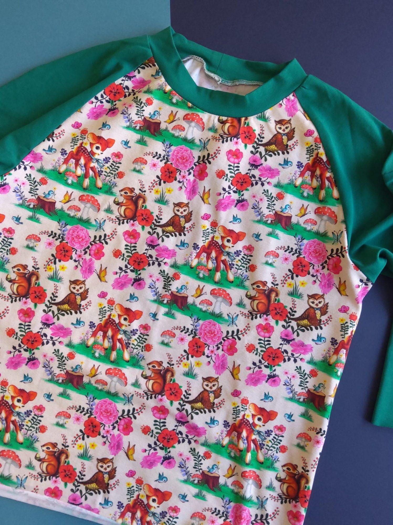 Sweat motif Bambi tissu jersey bio