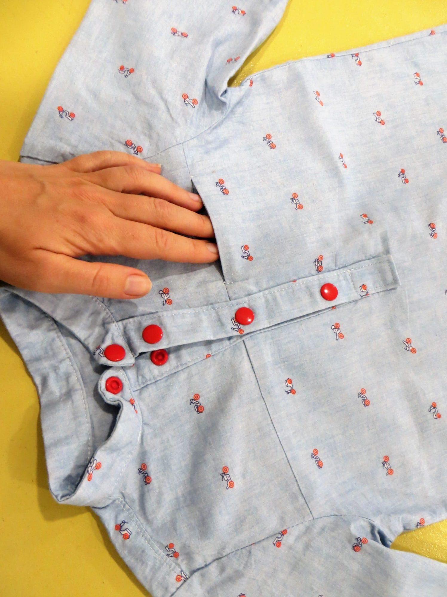 Chemise enfant, manches longues et poche