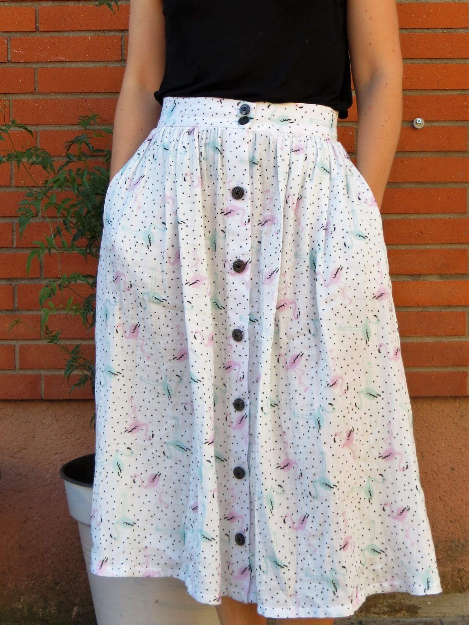 La jupe boutonnée version printemps