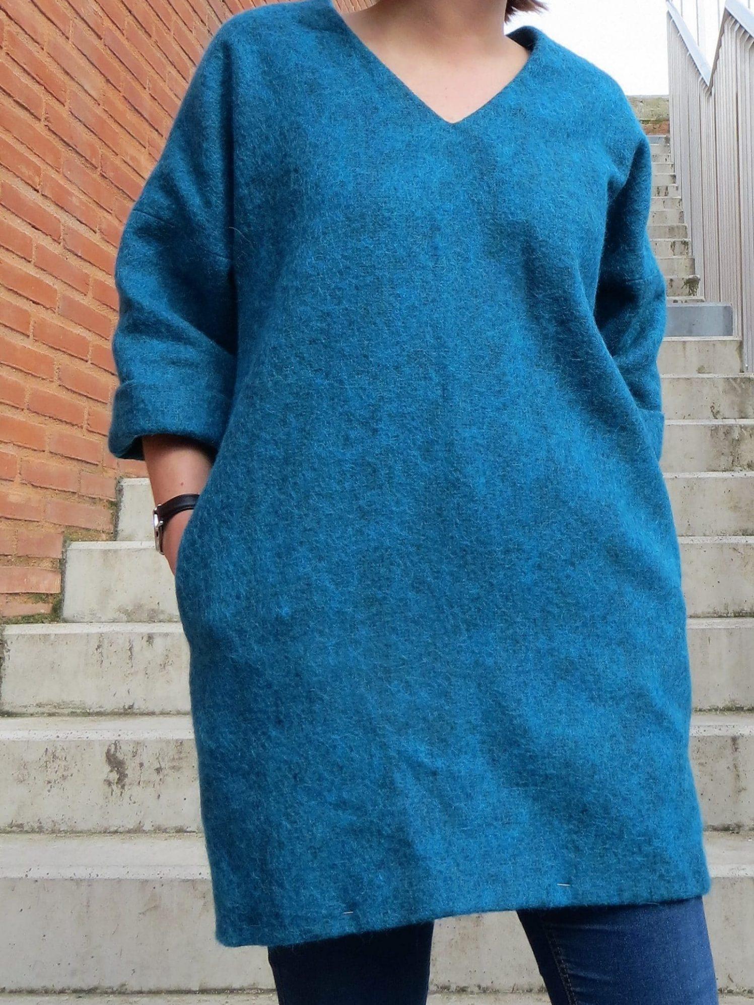 Une robe d'hiver avec poches