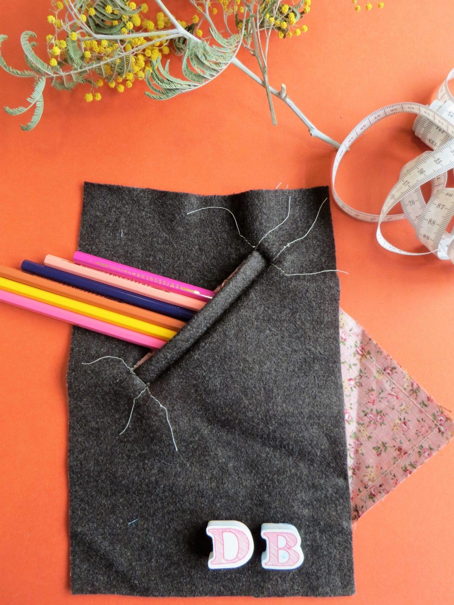 Pièce d'étude, poche raglan en laine