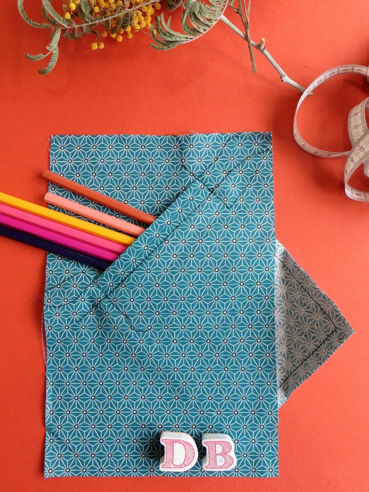 Pièce d'étude, poche raglan en coton