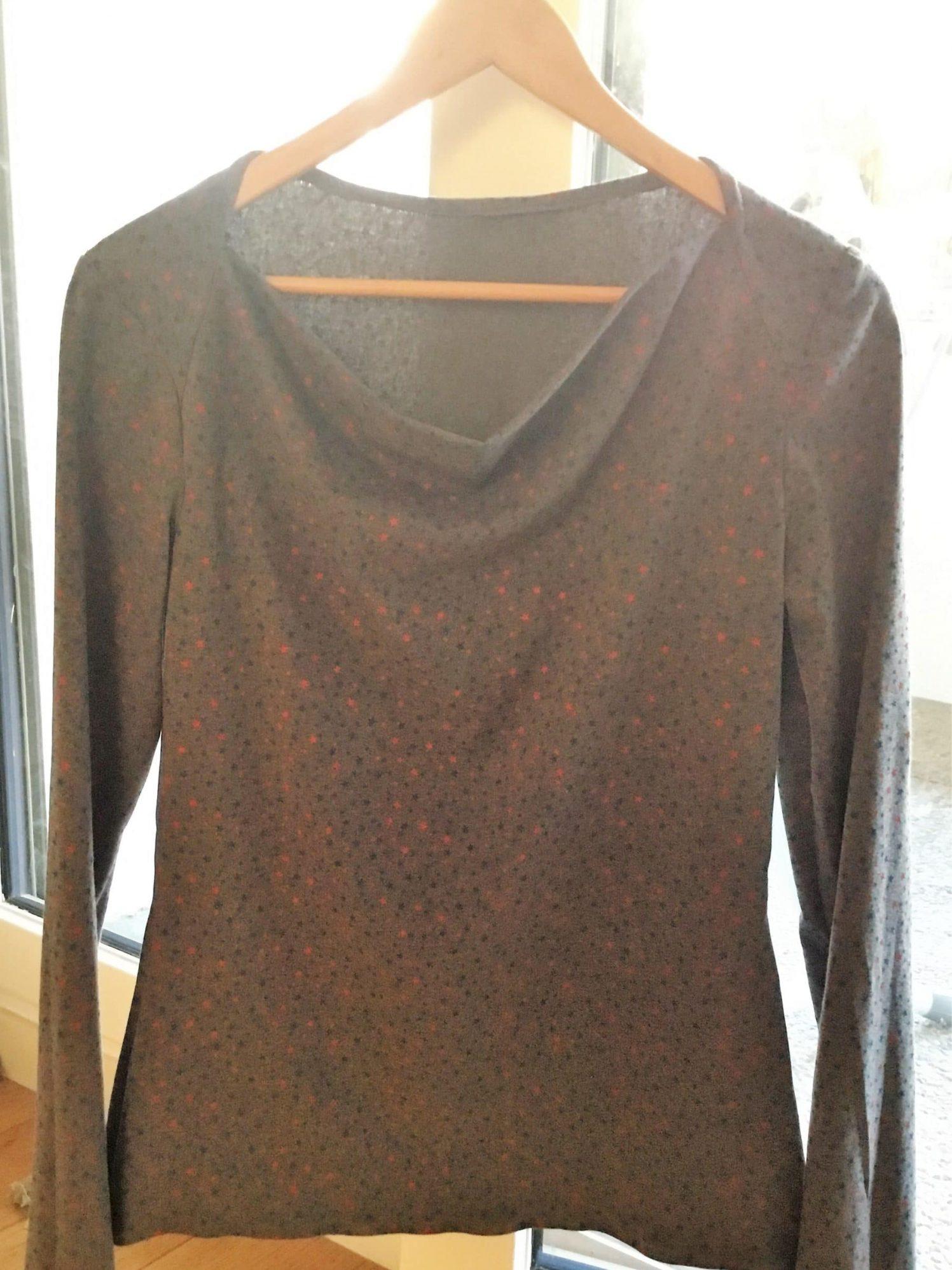 T-shirt étoile manches longues